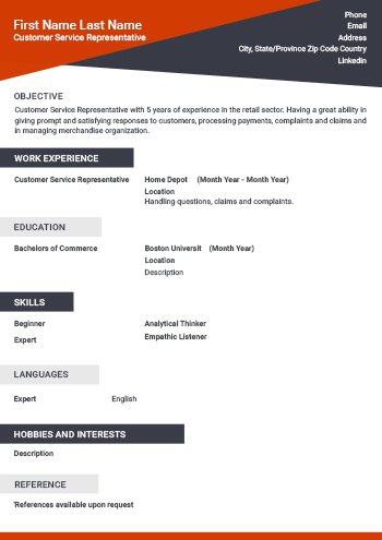 Free Resume Templates - Download Professional Resume Samples